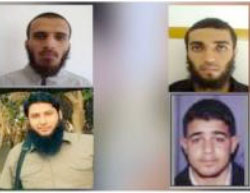 Wanted Salafist operatives (clockwise from top left): Nour Issa, Tal'at Abu Jazar, Yusuf Miqdad, Mahmoud Taleb (website of al-Saa' al-Thamina, July 24, 2017).