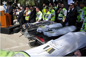 The funeral of the four Jews killed in the terrorist attack in Toulouse, held in Jerusalem