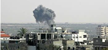 The Israeli Air Force attack in the Rafah region