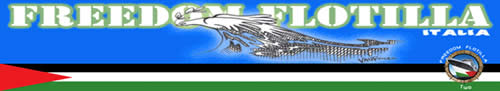 The logo of Freedom Flotilla Italia, an Italian network participating