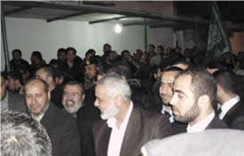 Reception for Ismail Haniya on his return to the Gaza Strip from a series of visits to Arab-Muslim countries