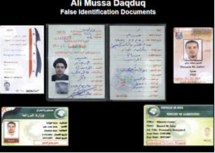 The forged documents used by Ali Daqduq