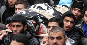Ma'mun Abu Def's funeral in the Gaza Strip