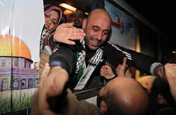 Terrorists return to the Gaza Strip as part of the deal to release Gilad Shalit