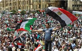 The demonstration against the Judification of Jerusalem in Cairo