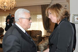 Mahmoud Abbas and Israeli opposition leader Tzippi Livni meet in Amman