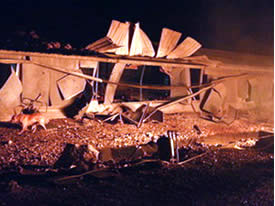 Damage caused by the rockets fired from south Lebanon into the western Galilee