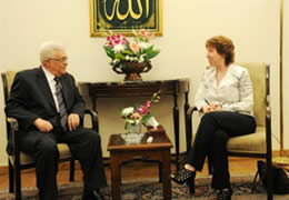 Mahmoud Abbas and Catherine Ashton meet in Cairo