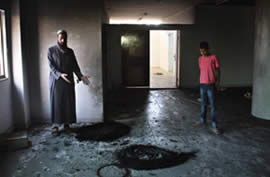 The burned mosque (Wafa News Agency, September 6, 2011)