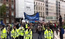 The rally in London