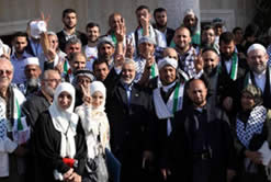 Pro-Hamas activists meet with Ismail Haniya