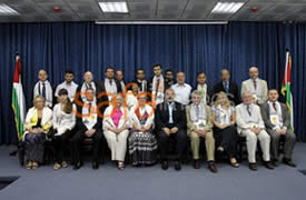 The delegation of European parliamentarians with Ismail Haniya