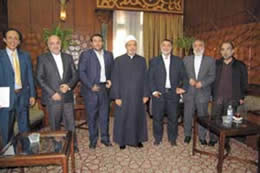 Sheikh al-Azhar welcomes the Iranian delegation