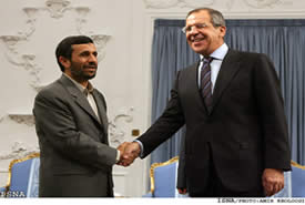 Lavrov and Ahmadinejad meet, October 2007