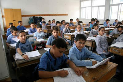 An UNRWA school in the Gaza Strip (electronicintifada, August 5, 2010)