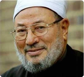 Portrait of Sheikh Dr. Yusuf Abdallah al-Qaradawi, senior Sunni Muslim cleric, affiliated with the Muslim Brotherhood