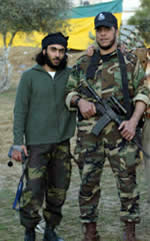 Mumtaz Dughmush, Army of Islam founder and head (right) with one of his operatives (Hamas forum website, January 24, 2007).