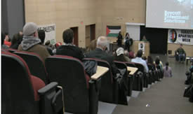 Call to boycott Israel (BDS) during IAW events in the University of Toronto in 2010
