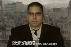 Hazem Jamjoum, from Ramallah, one of the organizers of the 2010 IAW events