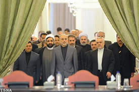 Salehi's inauguration ceremony as acting foreign minister