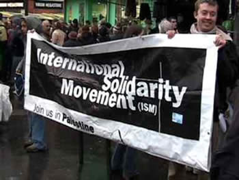 Israeli demonstration held by ISM activists in Britain
