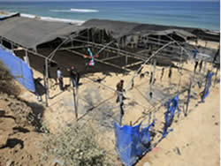 he UNRWA summer camp after it was torched on the night of June 28