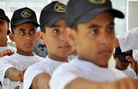 Military drills for children at Palestinian Islamic Jihad summer camps