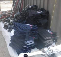 Pile of bullet-proof vests found on board the Mavi Marmara