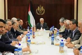 Mahmoud Abbas chairs the meeting of the PLO's executive committee