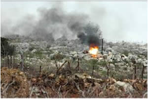 The IDF detonates one of the IEDs