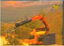 The IDF pruning equipment arrives at the scene