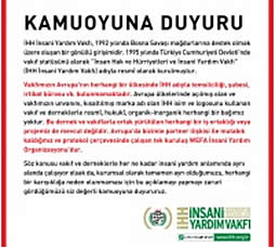 The posting on the IHH site denying links with the German organization