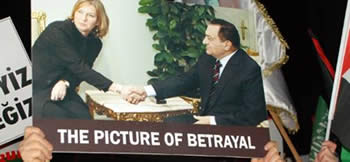Tzipi Livni and Egyptian President Hosni Mubarak
