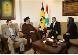 Samar al-Hajj and her husband meet Hassan Nasrallah