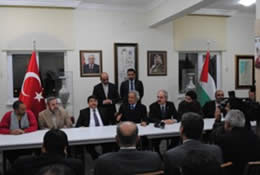 Convention in Turkey of IHH members and the Viva Palestina movement of the British George Galloway