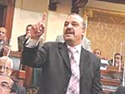 Muhamed Baltagi speaks before the Egyptian Parliament