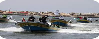 Hamas security services carry out a naval exercise in preparation for receiving the flotilla