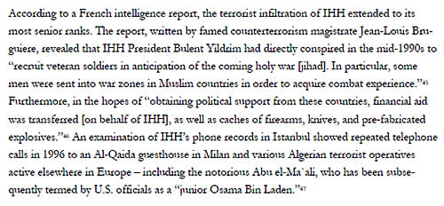 Passage from the study quoting a French intelligence report