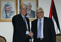 Palestinian Authority Chairman Mahmoud Abbas with George Mitchell