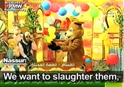 From Al-Aqsa TV, September 22, 2009, courtesy of the Palestinian Media Watch