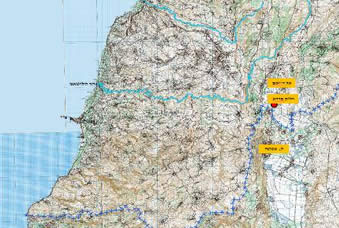 The eastern sector of south Lebanon where the explosive pits were found