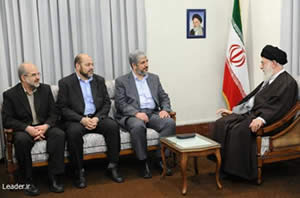 Khaled Mashaal and other senior Hamas figures meet Iranian