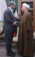 Khaled Mashaal and Hashemi-Rafsanjani