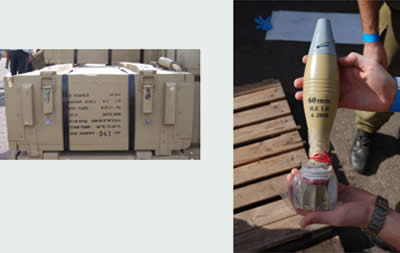 About 5,700 60mm mortar shells