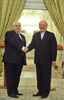 The Iranian and Syrian foreign ministers meet