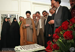 former president Mohammad Khatami celebrates his 66th birthday