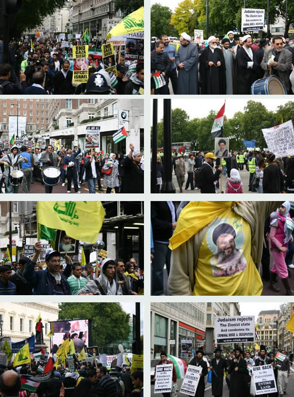 Pictures from the rally in London