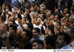 End of Ramadan ceremony in Tehran, 2008 (Fars)