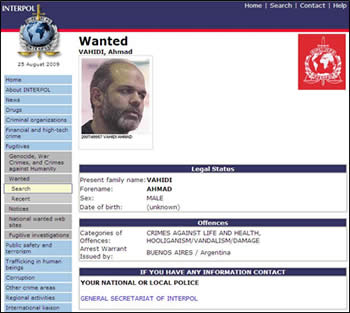 Ahmad Vahidi, designated Iranian defense minister and wanted by Interpol