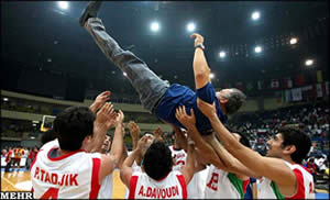 The Iranian team is Asia's new basketball champion